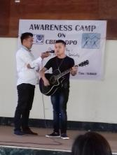 Ketuo a visually impaired boy serenading the crowd  (2017)