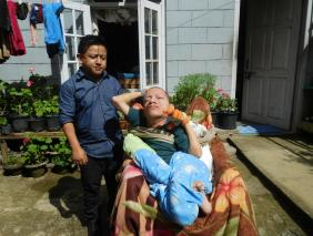 Home visit by CBR worker