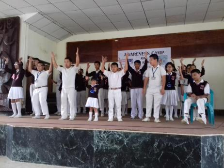 CWSN students from Cherry Blossoms School Kohima performing an action song.  (2017)