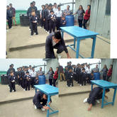 Demonstration on 'How one can be prepared for disaster, especially during Earthquake