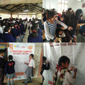 Glimpses of 'Ring the Bell' activity conducted in 5 SSA Schools before the festival.