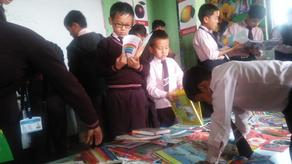 CBS students during the Book Fair